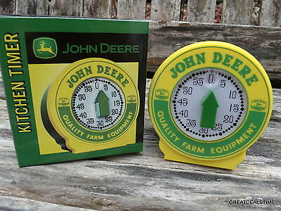 KITCHEN TIMER,VINTAGE,JOHN DEERE,ADVERTISING,IN THE BOX NEW OLD STOCK,RARE,GREEN