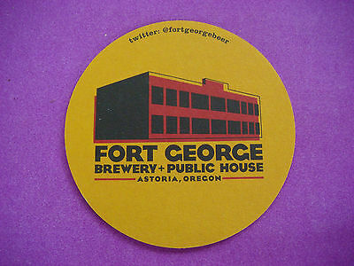 Beer Breweriana Coaster ~ FORT GEORGE Brewery & Public House ~*~ Astoria, OREGON