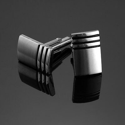 New Classic Men`s Wedding Party High Quality Smooth Cufflinks Square Cuff Links