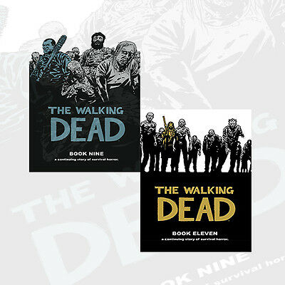 The Walking Dead Book (9 & 11) 2 Books Set by Charlie Adlard & Cliff Rathburn UK