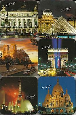 NEW Eiffel Tower Paris Monuments @ Night French Coasters LAST Set  IMPORTED