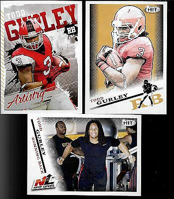 2015 Sage  HIT Todd Gurley (Georgia) 25ct Rookie Lot - 3 Different