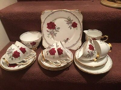 Royal Stafford Roses To Remember 21 Piece Teaset
