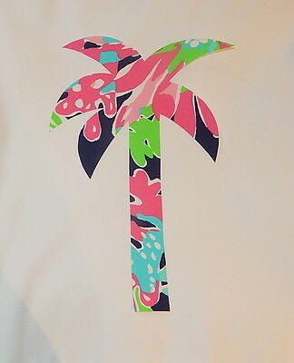 NEW Palm Tree pillow made with LILLY PULITZER Sippin and Trippin fabric