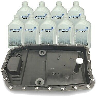 OEM ZF Auto Transmission Filter Kit ,Oil Pan & 9-Liters Fluid fo GABHP19Z Trani