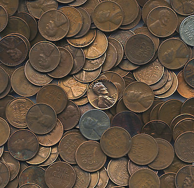 Old Wheat Pennies Pound Lb Lincoln Cents & Silver Coins Collection PLEASE READ