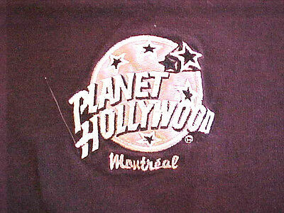 VINTAGE PLANET HOLLYWOOD T-SHIRT...MONTREAL.  WITH PLANET HOLLYWOOD TAG BLK/LRG