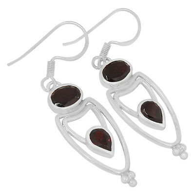 Garnet 925 Sterling Silver Earrings Jewelry E2138G