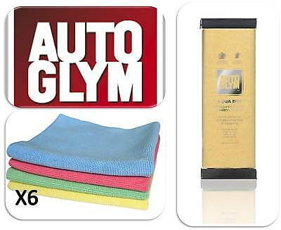 Autoglym Car Van Vehicle Hi Tech Aqua Dry Valet Wash Cloth & 6 Microfibre Cloths