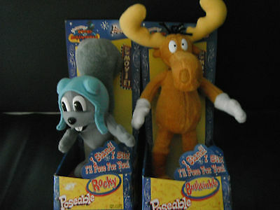 Rocky & Bullwinkle Plush Poseable Figure - JusToys 2000 -Collectible