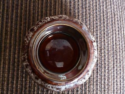 brown and white drip glaze fosters? ashtray trinket dish