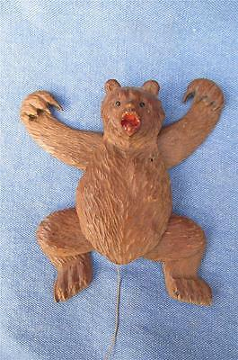 Genuine  antique ARTICULATED  Black forest  Bear  VGC - Very Rare