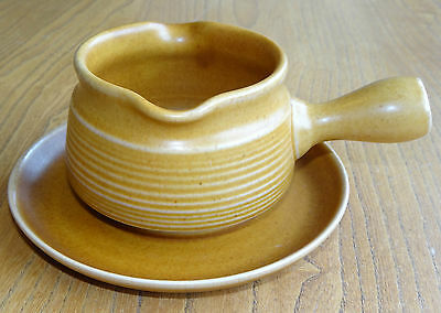 Denby Langley Gravy or Sauce Boat & Stand, Saucer or Underplate - CANTERBURY