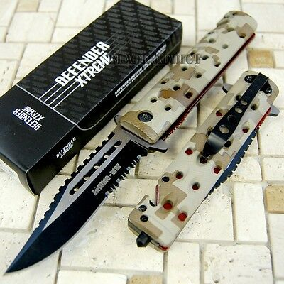 """8"""" Zombie Camo Tactical Combat Spring Assisted Open Pocket Rescue Knife 7670-U"""