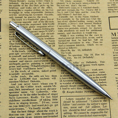 Hot New Stainless Steel Metal Ballpoint Pen Silver Trim BAOER37