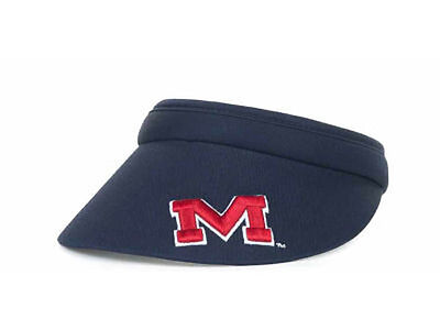 check out de6ff 92d82 Ole Miss Rebels Clip Visor NCAA Hat Cap Lid Mississippi University Oxford MS  SEC