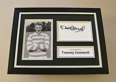 Tommy Gemmell Signed A4 Photo Framed Display Autograph Celtic Memorabilia + COA