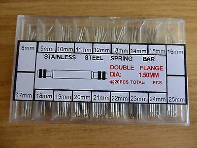 Brand New 360 Piece Stainless Steel Sprung Loaded Watch Pin Set.