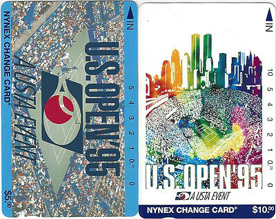 TK Telefonkarte $5 & $10 U.S. Open '95 Tennis Tournament Set of 2