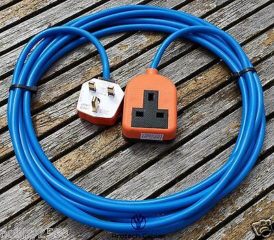 5 Meter Heavy Duty Gardening 1 Way Single Mains Electrical Extension Cable Lead