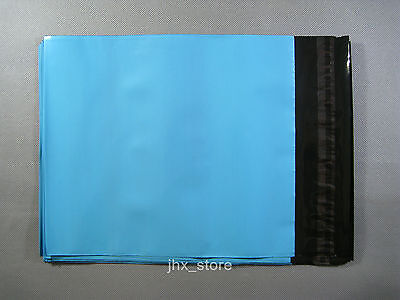 """3 Blue Plastic Mailing Bags Poly Envelopes Mailers 4.3"""" x 7""""_110 x 180+40mm"""
