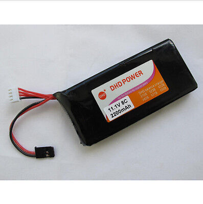F14163 CNDHD 11.1V 2200MAH 8C RC Transmitter TX Lipo Battery Akku Power