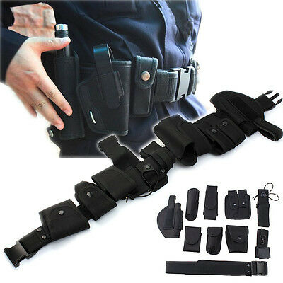 Patrol System Police Prison Guard Officer EMS Security Duty Belt Pouches Rigs