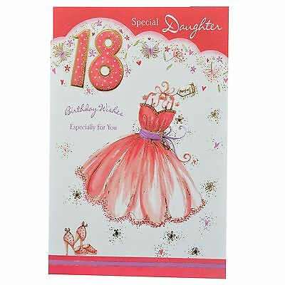18th Special Daughter Birthday Greeting Card Daughter's Birthday Present