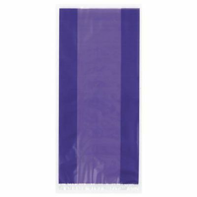 Purple Cellophane Party Loot bags with tie, pack of 30