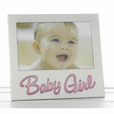 "6"" x 4"" New Baby Girl Glitter Photo Frame Occasion Present 73779"