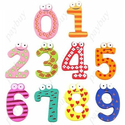 10pcs Number 0 to 9 Wooden Numbers- Cartoon Fridge Magnet,learning toy