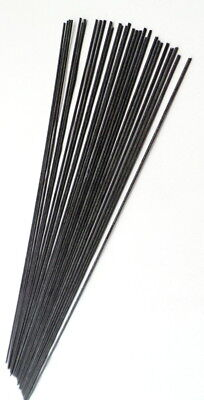 Black Fibreglass stems 20cm long x30(Pole float making materials & supplies)