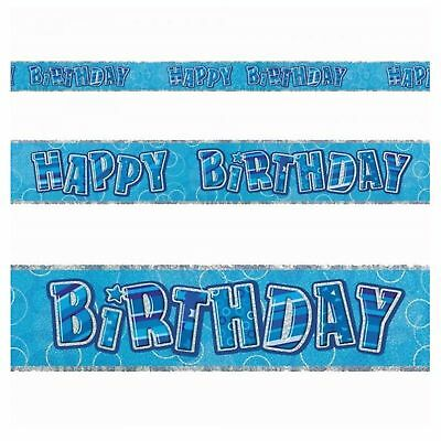 12ft Blue Happy Birthday Foil Banner Party Decorations Banner Party Supply