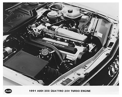 1991 Audi 200 Quattro 20V Turbo Engine Automobile Factory Photo ch7513
