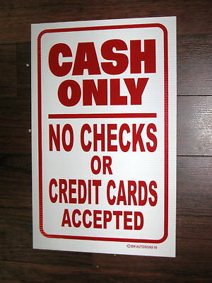 General Business Sign: CASH ONLY
