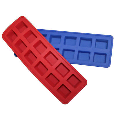 Ice Cube 12-Slot Silicone Tray Pop Out Flexible Mouldable Summer Maker Freeze