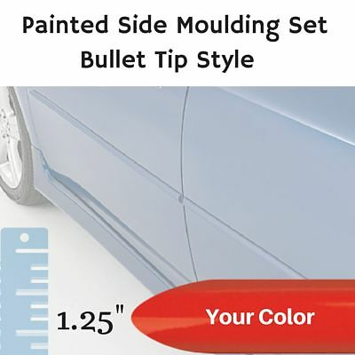 """Painted Bullet Tip 1.25"""" Body Side Moulding Set for Fiat 124 Convertible"""