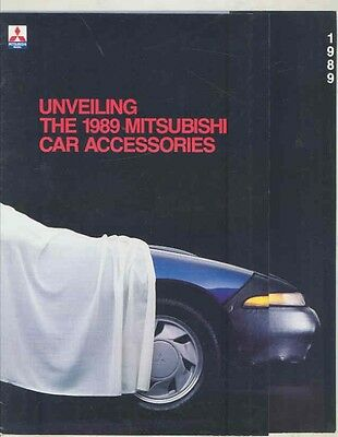 1989 Mitsubishi Eclipse Sigma Galant Mirage Precis Accessories Brochure wv0219