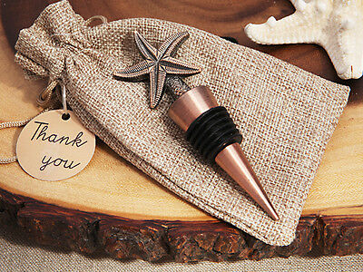 1 x Starfish Copper Vintage Wine Bottle Stopper - NEW - Favours and Gifts