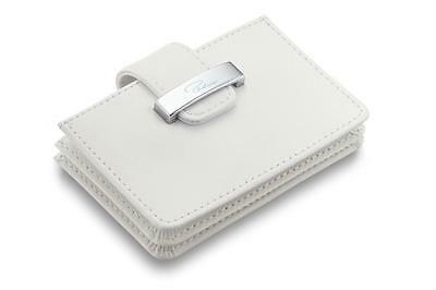 Philippi Germany DONATELLA Accordion White Leather Women Credit Card Case Wallet