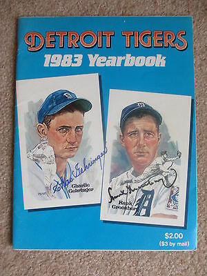 1983 Detroit Tigers Autographed Yearbook 27  Autos Gehringer Greenberg Twice