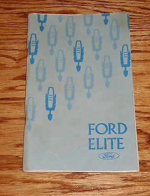 Original 1975 Ford Elite Owners Operators Manual 75