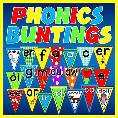 Cd Phonics Buntings Display Teaching Resources Letters Sounds Alphabet Eyfs Ks1