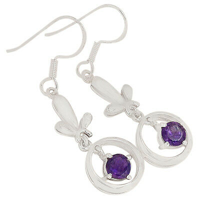 Amethyst 925 Sterling Silver Earrings Jewelry E2178A