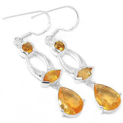 Citrine 925 Sterling Silver Earrings Jewelry E2188C