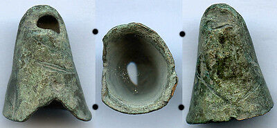 Scarce authentic ancient bronze Celtic Bell Money (7th-5th c. BC), Danube area