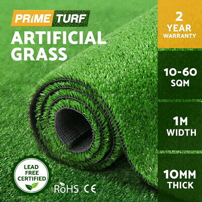 Primeturf 10-60 SQM Synthetic Turf Artificial Grass Fake Olive Plant Lawn