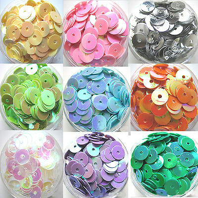 400pcs 6mm Round Loose Sequins Paillettes Clothes Sewing Wedding DIY Craft