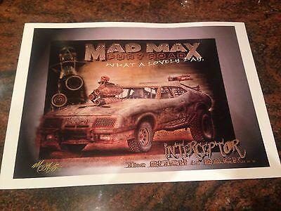 MAD Max Fury Road Interceptor Signed Print