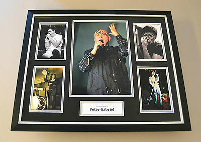 Peter Gabriel Signed Photo Large Framed Autograph Display Genesis Memorabilia
